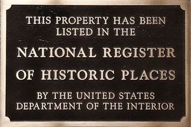 Bluefields Historic National Register Plaque