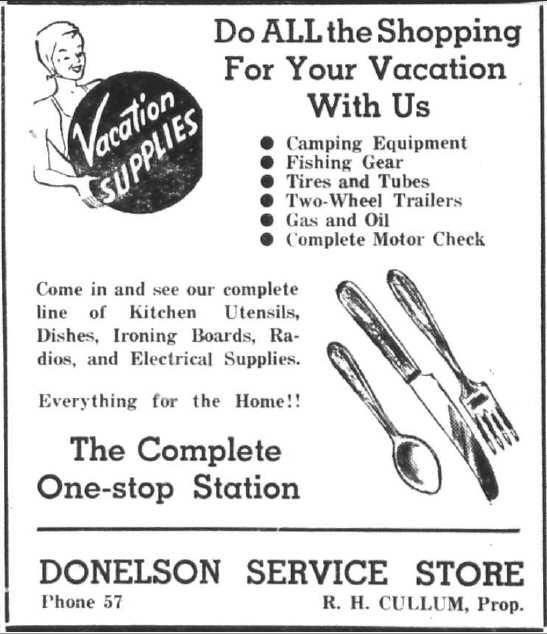 Donelson Service Store - Vacation Supplies